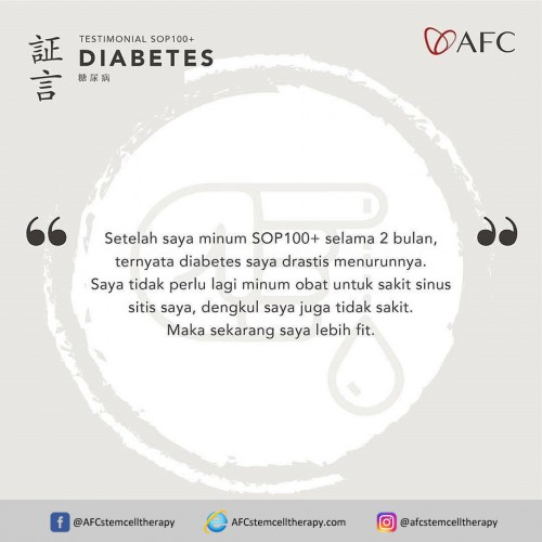 AFC Life Science Testimoni - Diabetes