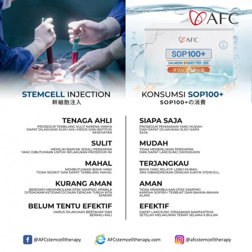 AFC Life Science Stemcell Injection vs Konsumsi SOP 100+